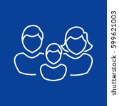 family icon flat. | Shutterstock .eps vector #599621003