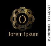 Golden Luxury Logo Frame Lette...