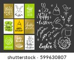 template design cards with eggs ... | Shutterstock .eps vector #599630807