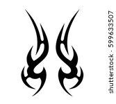 tribal designs. tribal tattoos. ... | Shutterstock .eps vector #599633507