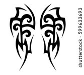 vector tribal tattoo designs.... | Shutterstock .eps vector #599633693