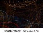 beautiful abstract futuristic... | Shutterstock . vector #599663573