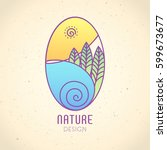 vector logo of nature on... | Shutterstock .eps vector #599673677
