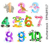 set of ordinal numbers for... | Shutterstock .eps vector #599689517