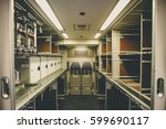 aircraft galley  aircraft... | Shutterstock . vector #599690117