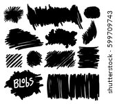 hand drawn design elements  set ... | Shutterstock .eps vector #599709743