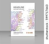 annual report  leaflet ... | Shutterstock .eps vector #599717663