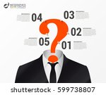 infographic template. think... | Shutterstock .eps vector #599738807