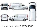 vector van template isolated on ... | Shutterstock .eps vector #599745803