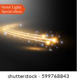 abstract vector glowing magic... | Shutterstock .eps vector #599768843