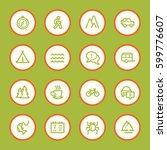 travel web icons set | Shutterstock .eps vector #599776607
