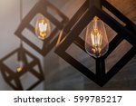 modern pendant light with... | Shutterstock . vector #599785217
