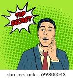 vector business man telling... | Shutterstock .eps vector #599800043
