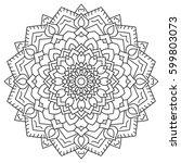 circular geometric ornament....   Shutterstock . vector #599803073