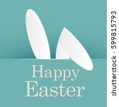 happy easter day | Shutterstock .eps vector #599815793