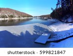 Snow Covered Pontoon In Winter...