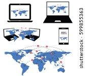 money transfer all around the... | Shutterstock .eps vector #599855363