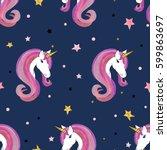 seamless unicorns pattern....   Shutterstock .eps vector #599863697