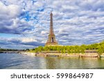 view of eiffel tower from the... | Shutterstock . vector #599864987