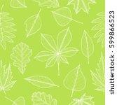 seamless pattern of autumn... | Shutterstock .eps vector #599866523