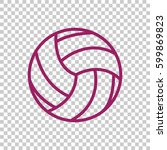 volleyball icon flat. | Shutterstock .eps vector #599869823