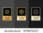 vector set of design elements ... | Shutterstock .eps vector #599870327