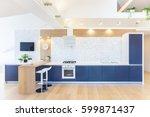modern interior  kitchen in