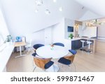 modern interior light a large... | Shutterstock . vector #599871467