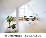 modern interior light a large... | Shutterstock . vector #599871503