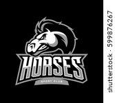 furious horse sport club vector ... | Shutterstock .eps vector #599876267