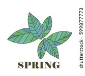 beautiful spring background ... | Shutterstock .eps vector #599877773
