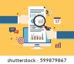 flat design vector illustration ... | Shutterstock .eps vector #599879867
