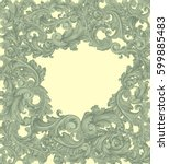 victorian baroque floral... | Shutterstock .eps vector #599885483