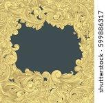 victorian baroque floral... | Shutterstock .eps vector #599886317