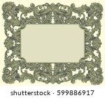 victorian baroque floral... | Shutterstock .eps vector #599886917