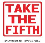 take the fifth text  on red... | Shutterstock . vector #599887067