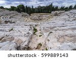 ruins of greek theater in...