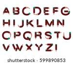 alphabet pencil | Shutterstock .eps vector #599890853