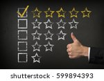 five star checklist rating with ... | Shutterstock . vector #599894393
