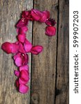 Small photo of petal alphabet, alphabet, rose alphabet
