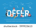 offer concept vector... | Shutterstock .eps vector #599923613