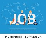 job concept vector illustration ... | Shutterstock .eps vector #599923637
