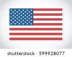 flag of usa. | Shutterstock .eps vector #599928077