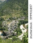 Small photo of Village of Saint Enimie in Gorges du Tarn or Tarn canyon in France