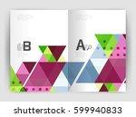 modern business brochure or...   Shutterstock .eps vector #599940833