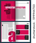 letter magenta modern magazine...   Shutterstock .eps vector #599944703