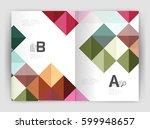 modern minimalistic geometrical ...   Shutterstock .eps vector #599948657