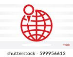 world map with pointer marks...   Shutterstock .eps vector #599956613