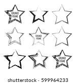 stamps collection. grunge... | Shutterstock .eps vector #599964233