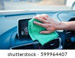 hand cleaning the car interior... | Shutterstock . vector #599964407